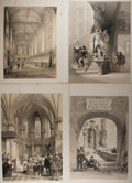 Books:Prints & Leaves, Group of Four Lithographs Depicting European Court Scenes. Ca.1841. Each measures roughly 14.5 x 21.25 inches. Foxing a...