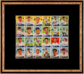 Baseball Cards:Lots, 1934 Goudey Baseball R320 Uncut Sheet of Twenty-Four Cards....