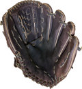 Baseball Collectibles:Others, 1980's Dwight Gooden Game Worn and Signed Glove - With StyleMatch....