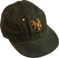 Baseball Collectibles:Hats, 1933-35 Carl Hubbell Game Worn New York Giants Cap....