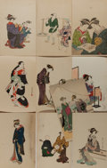 Miscellaneous:Postcards, [Postcards].Ten (10) Japanese Postcards featuring Asian Themes. Allmeasure approximately 5.5 x 3.5 inches. Toned, else very...