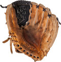 Baseball Collectibles:Others, 1996 World Series Game Used Fielder's Glove That Recorded Final Outby Charlie Hayes....