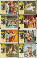 "Movie Posters:Adventure, Lord of the Jungle (Allied Artists, 1955). Lobby Card Set of 8 (11""X 14""). Adventure.. ... (Total: 8 Items)"