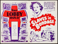 "Slaves in Bondage (Jay Dee Kay, 1937). Uncut Pressbook (8 Pages, 12"" X 18""). Crime"