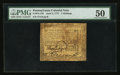 Colonial Notes:Pennsylvania, Pennsylvania April 3, 1772 2s PMG About Uncirculated 50.. ...