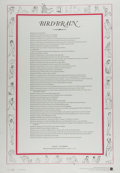 Miscellaneous:Broadside, Allen Ginsberg. Birdbrain. New Haven: Reid/Berger, 1989.Copy no. 24. Broadside, measuring 24 x 16.5 inches. Minor w...