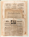 Miscellaneous:Newspaper, Facsimiles of Three American Newspapers: The New-EnglandCourant, 1723, The New England Weekly Journal, ...
