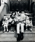 Books:Americana & American History, [American Heritage Archives - Sesame Street]. Photographic Reprintof Bob McGrath Reading to Children. Bob McGrath was one o...
