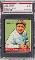 Baseball Cards:Singles (1930-1939), 1933 Goudey Babe Ruth #181 U.S. Patent/Copyright Card PSAAuthentic....