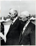 Books:Americana & American History, [American Heritage Archives]. Photo Reproduction of Charles deGaulle and Dwight D. Eisenhower. Measures 11 x 14 inches. Som...