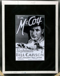 Books:Americana & American History, [American Heritage Archives]. Photographic Reprint and ColorNegative of Advertising Poster for Lightnin' Bill Carson...