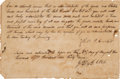 Autographs:Non-American, [David Crockett]. Robert Crockett Document Signed...