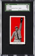 "Baseball Cards:Singles (Pre-1930), 1910 E98 ""Set of 30"" Ty Cobb (Black Swamp) SGC 98 Gem 10 - TheFinest Example In The Hobby!..."
