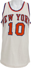 Basketball Collectibles:Uniforms, Early 1970's Walt Frazier Game Worn New York Knicks Jersey....