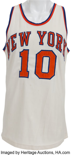 lowest price 01763 d7586 Early 1970's Walt Frazier Game Worn New York Knicks Jersey ...