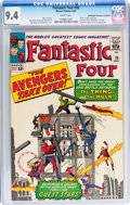 Silver Age (1956-1969):Superhero, Fantastic Four #26 Don/Maggie Thompson Collection pedigree (Marvel,1964) CGC NM 9.4 White pages....