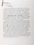 Books:Literature 1900-up, Charles Bukowski. I Meet the Master. Typescript for a shortstory. 1984. Twenty-four pages with Bukowski's notes, ph...