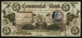 Obsoletes By State:Indiana, Terre Haute, IN- Commercial Bank $5 Aug. 3, 1858. ...