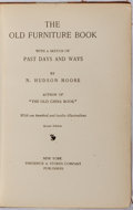 Books:Furniture & Accessories, N. Hudson Moore. The Old Furniture Book. New York: Stokes,[1903]. First edition. Publisher's half morocco over clot...