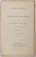 Books:Americana & American History, [Anti-Slavery] W. H. Furness. Our American Institutions. AThanksgiving Discourse Delivered in the First Congregational...