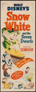 "Movie Posters:Animation, Snow White and the Seven Dwarfs (RKO, R-1951). Insert (14"" X 36"").Animation.. ..."