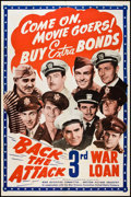 """Movie Posters:War, Back the Attack (War Activities Committee, 1943). Poster (40"""" X60""""). War.. ..."""