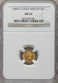Gold Dollars: , 1849-C G$1 Closed Wreath MS62 NGC. NGC Census: (8/8). PCGSPopulation (6/5). Mintage: 11,634. Numismedia Wsl. Price for pro...