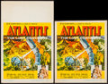 "Movie Posters:Adventure, Atlantis, the Lost Continent & Other Lot (MGM, 1961). WindowCard (14"" X 22""), Trimmed Window Card (14"" X 16.75""), & OneShe... (Total: 4 Items)"