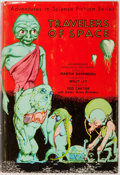 Books:Science Fiction & Fantasy, Edd Cartier [illustrator]. Martin Greenberg [editor]. SIGNED.Travelers of Space. Gnome, [1951]. First edition, firs...