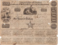 Autographs:Statesmen, Charles DeMorse $500 1840 Republic of Texas Stock CertificateSigned....