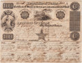 Autographs:Statesmen, Charles DeMorse $100 1840 Republic of Texas Stock Certificate Signed....