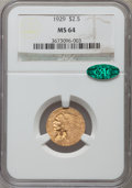 Indian Quarter Eagles, 1929 $2 1/2 MS64 NGC. CAC....