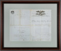 Autographs:Non-American, Antonio López de Santa Anna Military Commission Signed...