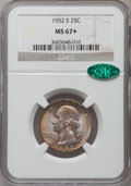 Washington Quarters: , 1952-S 25C MS67+ NGC. CAC. NGC Census: (349/7). PCGS Population(170/4). Mintage: 13,707,800. Numismedia Wsl. Price for pro...