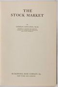 Books:Business & Economics, Charles Amos Dice. The Stock Market. New York: McGraw-Hill,[1926]. Publisher's green cloth. Modest shelfwear. Ex-li...