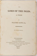 Books:Literature Pre-1900, Walter Scott. Lord of the Isles. Edinburgh: ArchibaldConstable, 1815. Green cloth binding. Front board nearly detac...