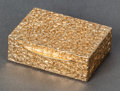 Silver Smalls:Other , AN AMERICAN 14K GOLD PILL BOX . Maker unknown, circa 1900. 1 inchhigh (2.5 cm). 0.64 troy ounces. Estate of Gerry Lane, B...