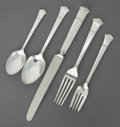 Silver Flatware, American:Tiffany, A TWENTY PIECE TIFFANY WINDHAM PATTERN SILVER FLATWARESERVICE. Tiffany & Co., New York, New York, circa 1922. M...(Total: 20 Items)