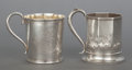 Silver Holloware, American:Coin Silver, TWO AMERICAN COIN SILVER AND SILVER GILT CUPS. Maker unknown, circa1900. Marks: Coin. 3-7/8 inches high x 3-3/4 inches ...(Total: 2 Items)