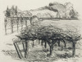 Fine Art - Work on Paper:Drawing, GREGORY KONDOS (American, b. 1923). House in Aix andRutherford (pair), 1979-89. Pencil on paper. 7-1/4 x 5-1/4inch... (Total: 2 Items)