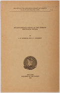 Books:Natural History Books & Prints, C.W. Merriam and C.A. Anderson. Reconnaissance Survey of the Roberts Mountains, Nevada. New York: Geological Society...