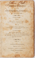 Books:Religion & Theology, James Hervey. Meditations and Contemplations. New York: Adancourt, 1813. Octavo. TWO VOLUMES IN ONE. Full leather. B...