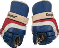 Hockey Collectibles:Equipment, 1984 Phil Verchota Game Worn USA Olympic Hockey Team Gloves. ...