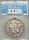 1893 $1 VAM-4, Double Stars AU50 ANACS. Top 100. NGC Census: (249/2856). PCGS Population (335/4304). Mintage: 389,792. N...