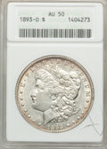 Morgan Dollars: , 1893-O $1 AU50 ANACS. NGC Census: (124/1431). PCGS Population (223/1764). Mintage: 300,000. Numismedia Wsl. Price for probl...