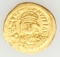 Ancients:Byzantine, Ancients: Justin II - Maurice Tiberius (AD 565-602). Lot of two AVsolidi.... (Total: 2 items)