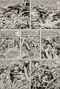 Original Comic Art:Panel Pages, Jack Kirby and Frank Giacoia Captain America #201 Page 10Original Art (Marvel, 1976)....