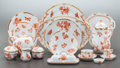 Ceramics & Porcelain, A ONE HUNDRED NINETY-NINE PIECE HEREND FORTUNA PATTERN PORCELAIN DINNER SERVICE . Late 20th century. Marks: HE... (Total: 199 Items)