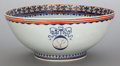 Asian:Chinese, A LARGE CHINESE EXPORT PORCELAIN PUNCH BOWL. Circa 1820. 8-1/2inches high, and 20-1/2 inch diameter (21.6 x 52.1 cm). Est...