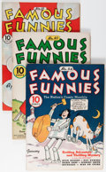 Golden Age (1938-1955):Miscellaneous, Famous Funnies Group (Eastern Color, 1938-40) Condition: Average FN.... (Total: 4 Comic Books)